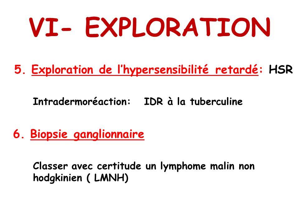 VI- EXPLORATION 5. Exploration de l'hypersensibilité retardé: HSR