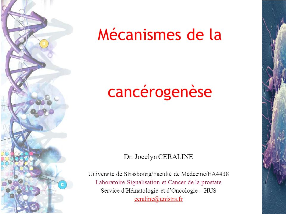 Mécanismes de la cancérogenèse