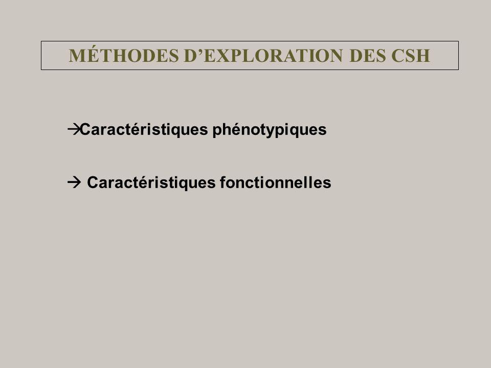 MÉTHODES D'EXPLORATION DES CSH