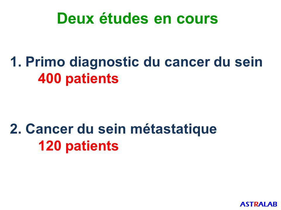 Deux études en cours 1. Primo diagnostic du cancer du sein