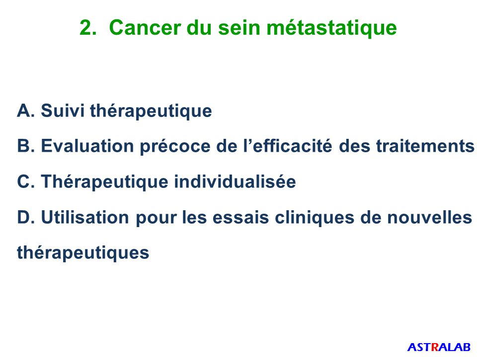 2. Cancer du sein métastatique