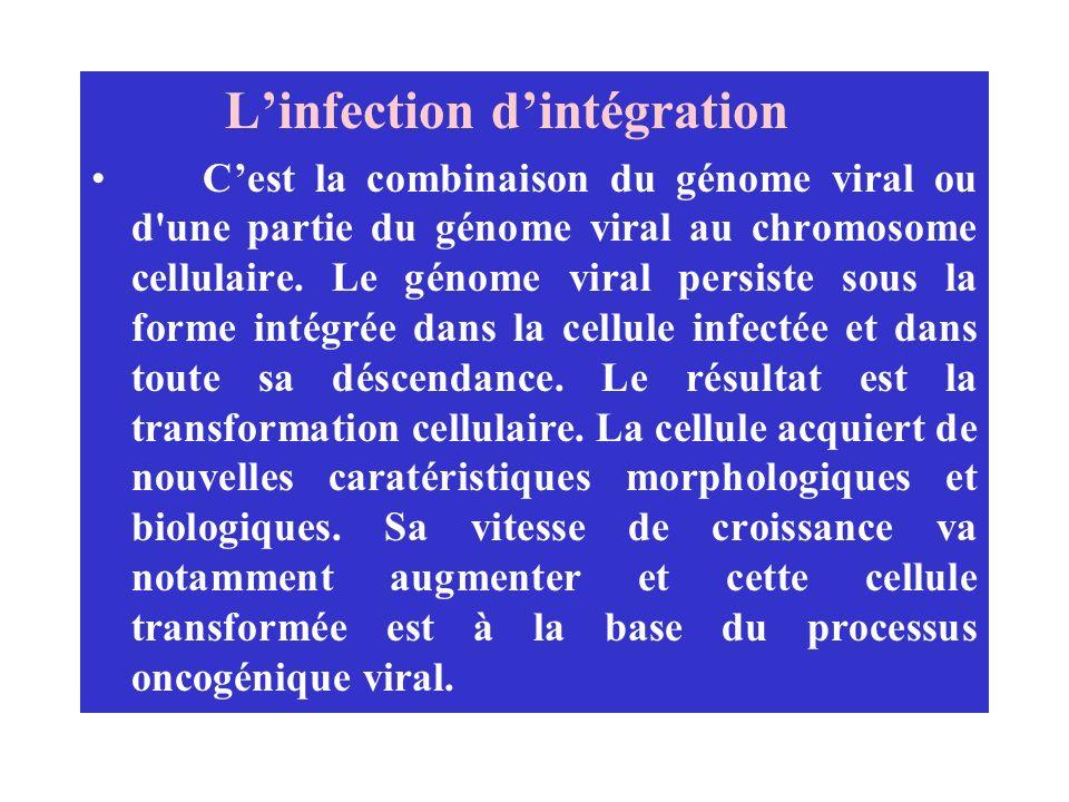 L'infection d'intégration