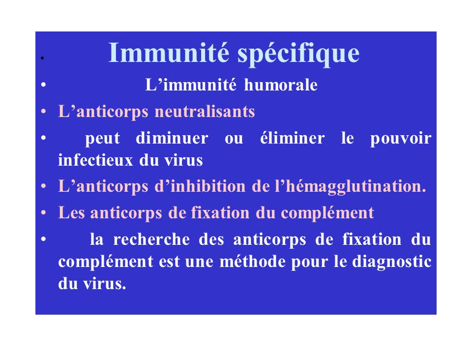 L'anticorps neutralisants