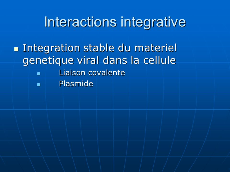 Interactions integrative