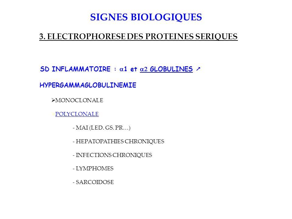3. ELECTROPHORESE DES PROTEINES SERIQUES
