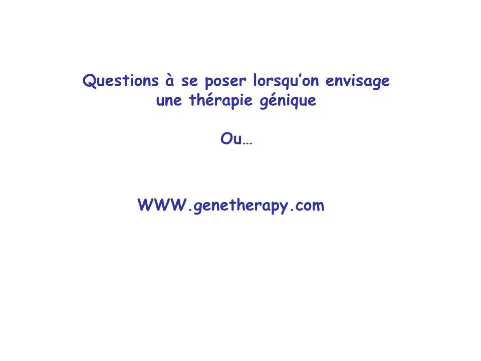Questions à se poser lorsqu'on envisage