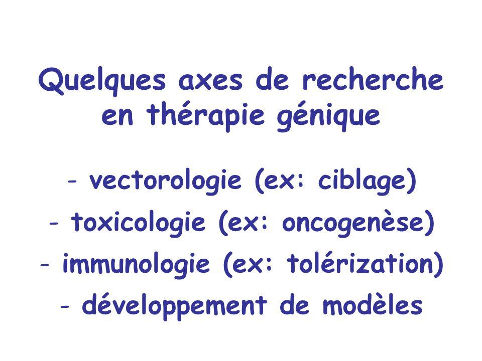 Quelques axes de recherche en thérapie génique