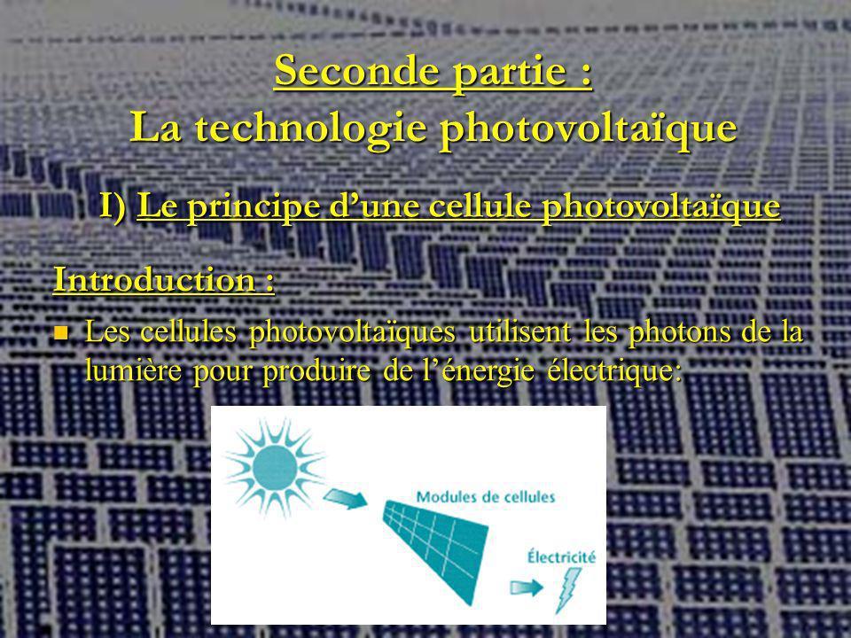 Seconde partie : La technologie photovoltaïque