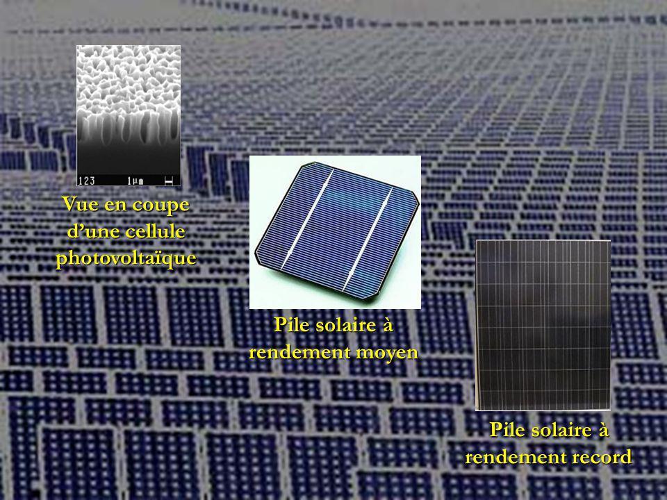 Vue en coupe d'une cellule photovoltaïque