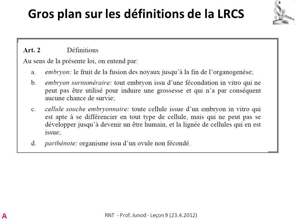Gros plan sur les définitions de la LRCS