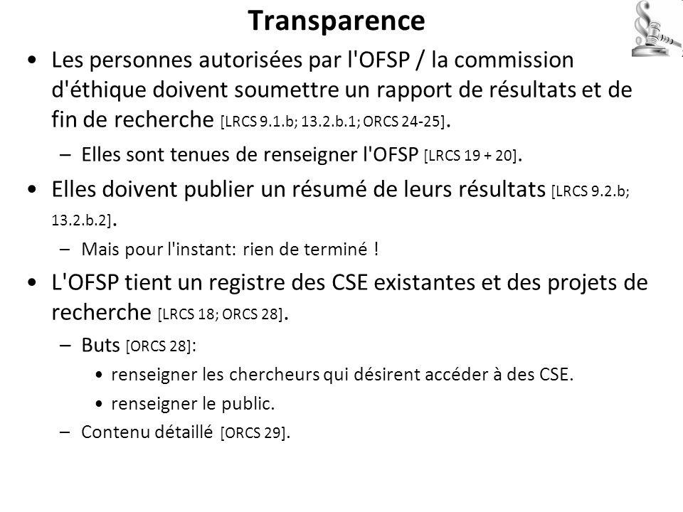 Transparence