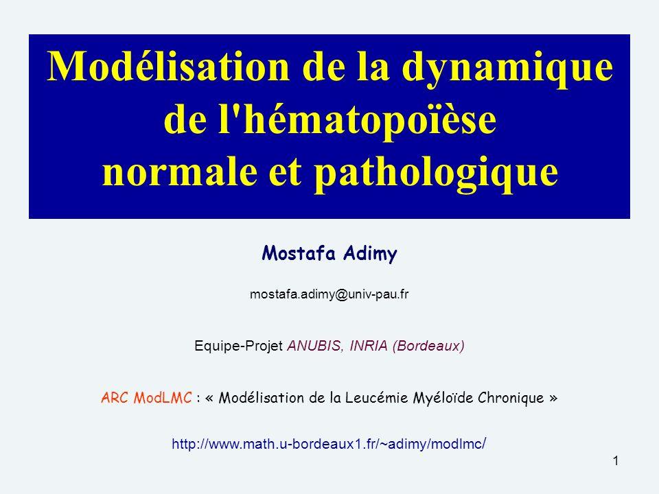 Modélisation de la dynamique de l hématopoïèse normale et pathologique