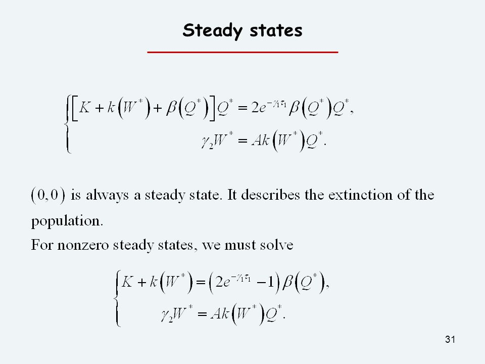 Steady states