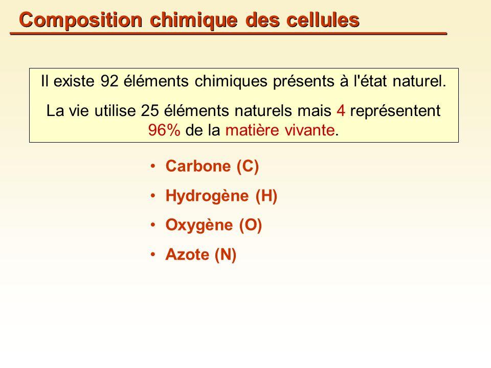 Il existe 92 éléments chimiques présents à l état naturel.