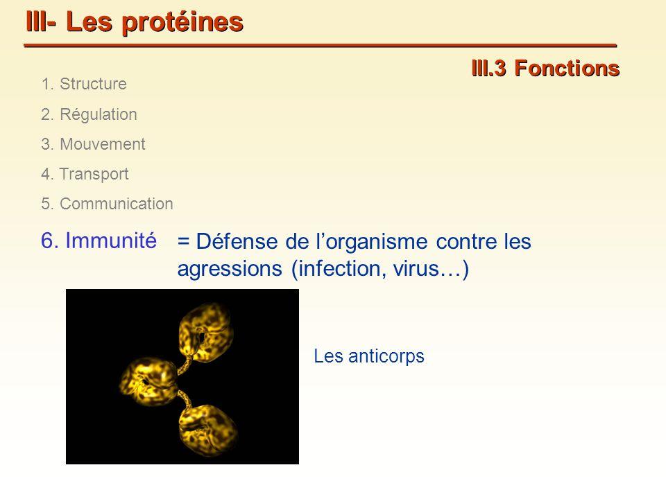 III- Les protéines III.3 Fonctions 6. Immunité