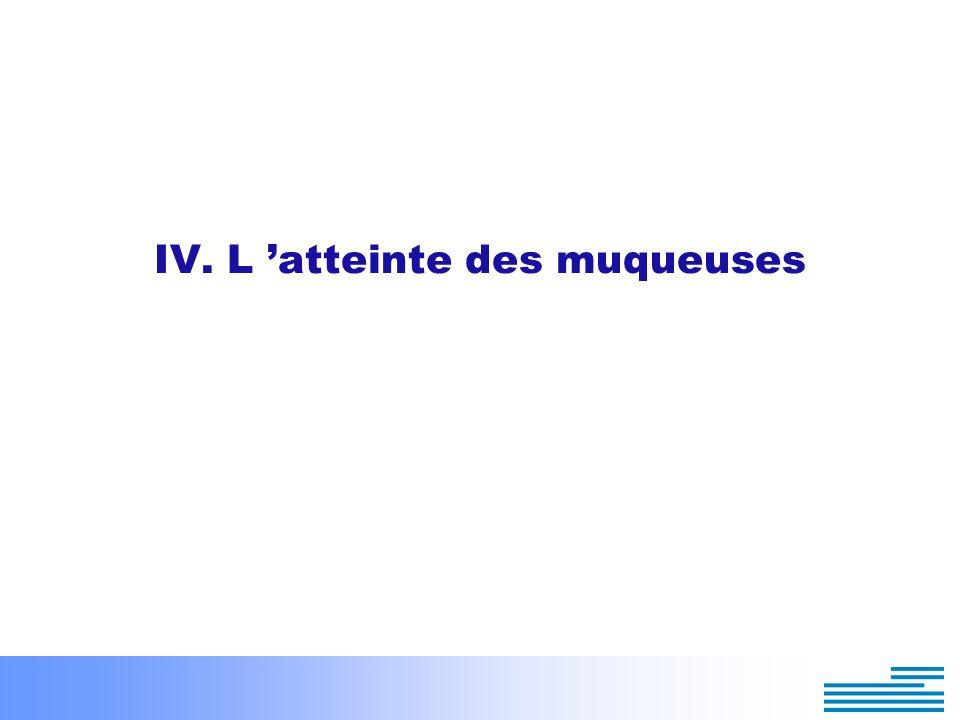 IV. L 'atteinte des muqueuses