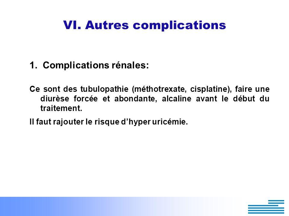 VI. Autres complications