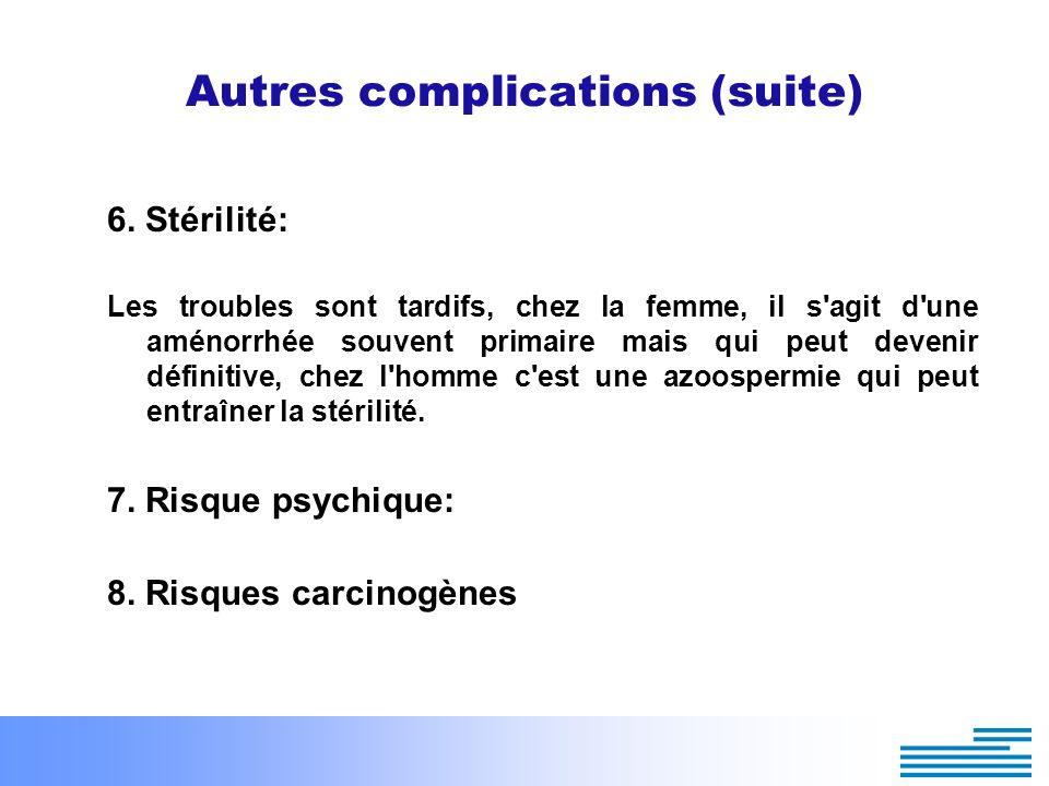 Autres complications (suite)