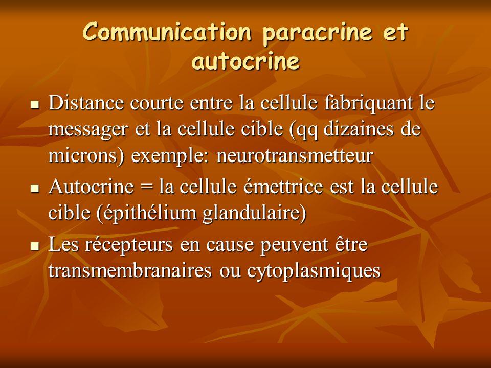 Communication paracrine et autocrine