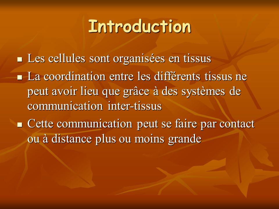 Introduction Les cellules sont organisées en tissus