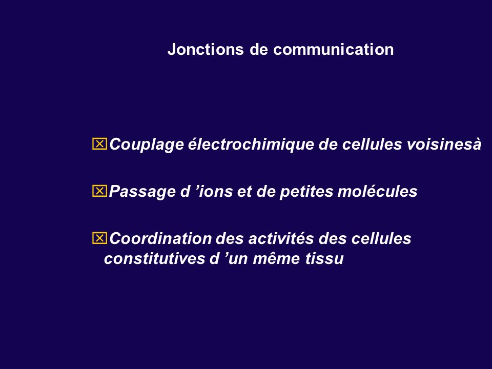 Jonctions de communication