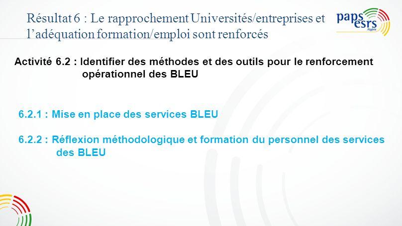 4646 Résultat 6 : Le rapprochement Universités/entreprises et l'adéquation formation/emploi sont renforcés.