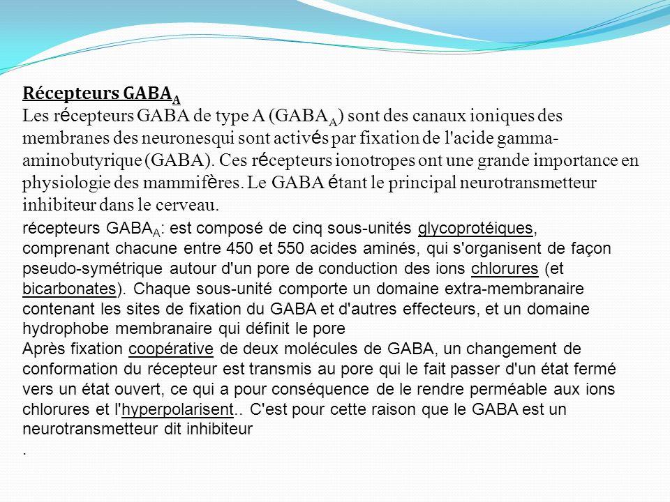 Récepteurs GABAA