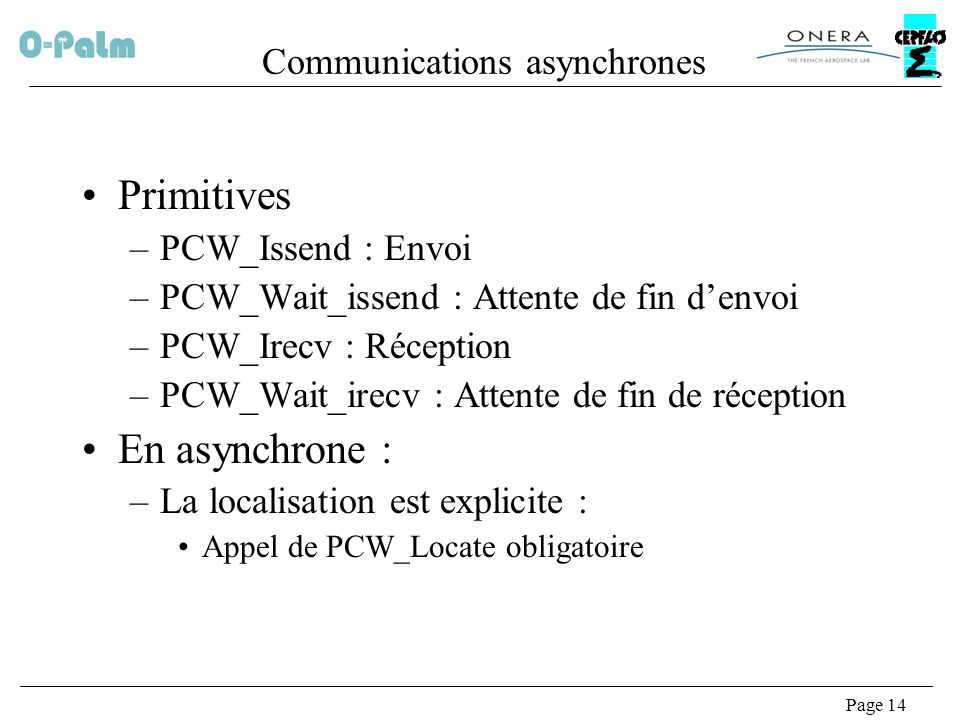 Communications asynchrones