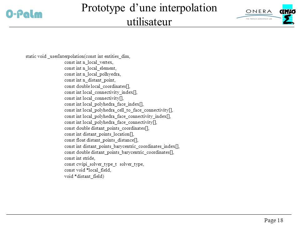 Prototype d'une interpolation utilisateur