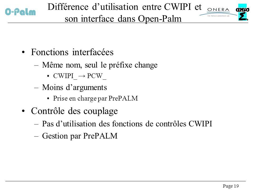 Différence d'utilisation entre CWIPI et son interface dans Open-Palm