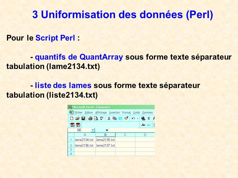 3 Uniformisation des données (Perl)