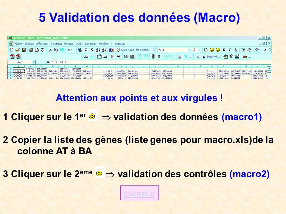 5 Validation des données (Macro)
