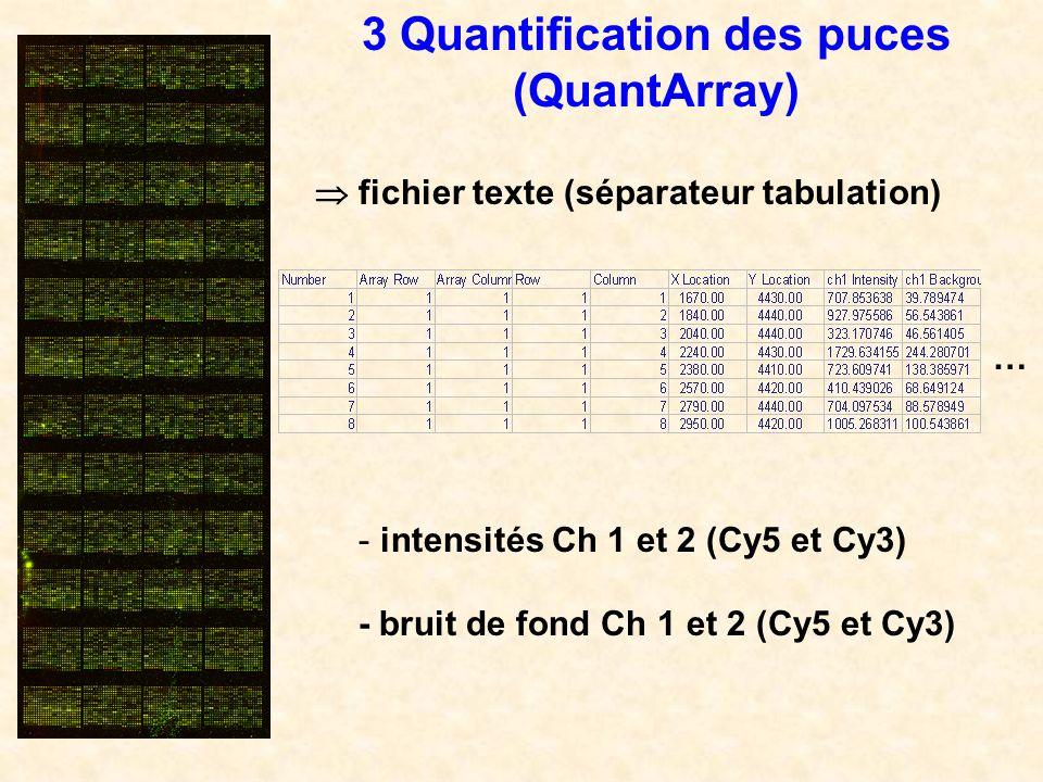 3 Quantification des puces (QuantArray)