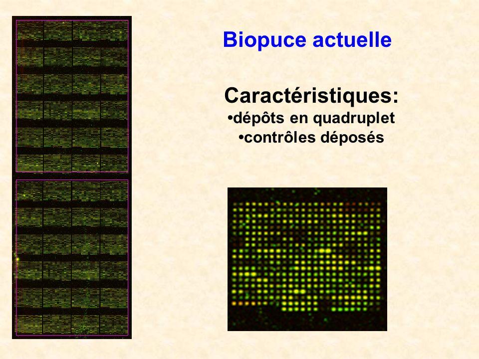 Biopuce actuelle Caractéristiques: