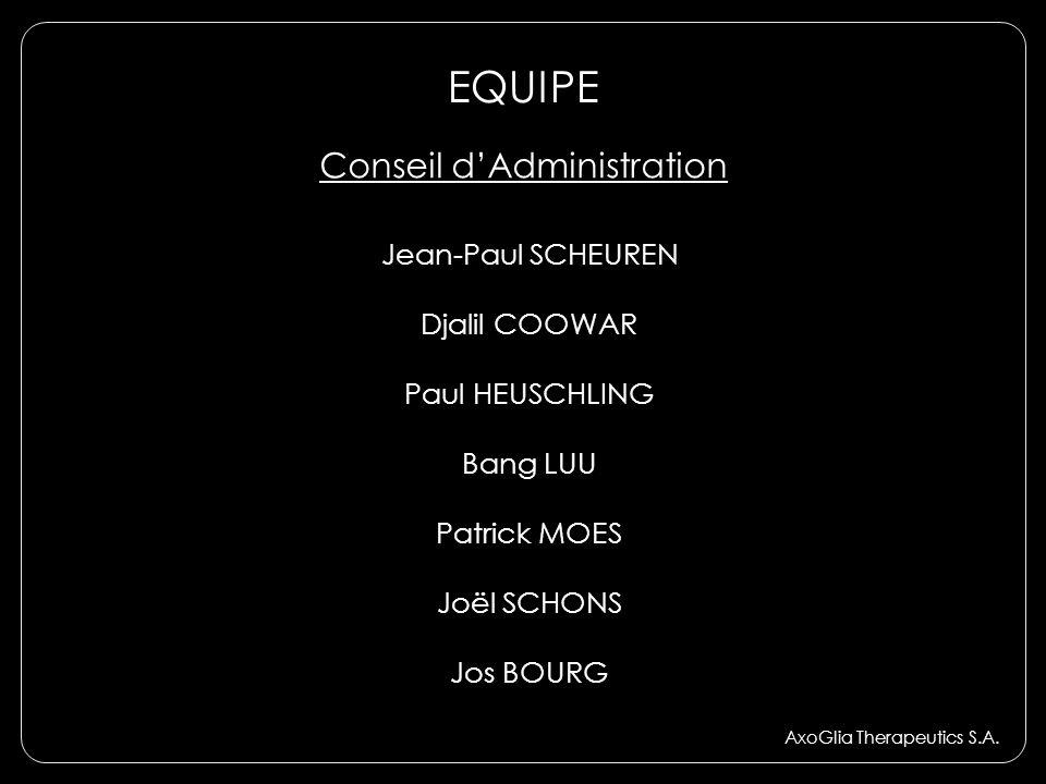 EQUIPE Conseil d'Administration Jean-Paul SCHEUREN Djalil COOWAR