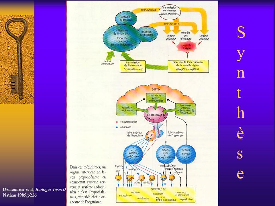 Synthèse Demounem et al, Biologie Term D, Nathan 1989,p226