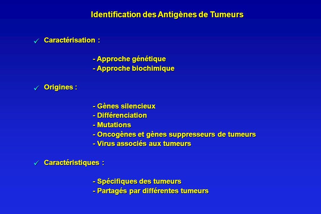 Identification des Antigènes de Tumeurs