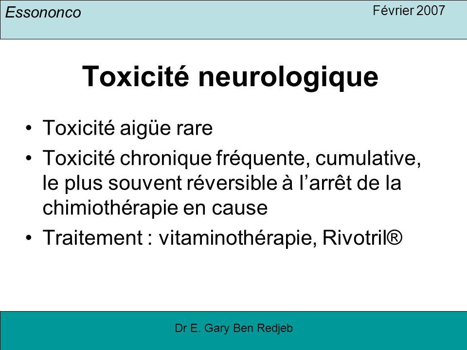 Toxicité neurologique