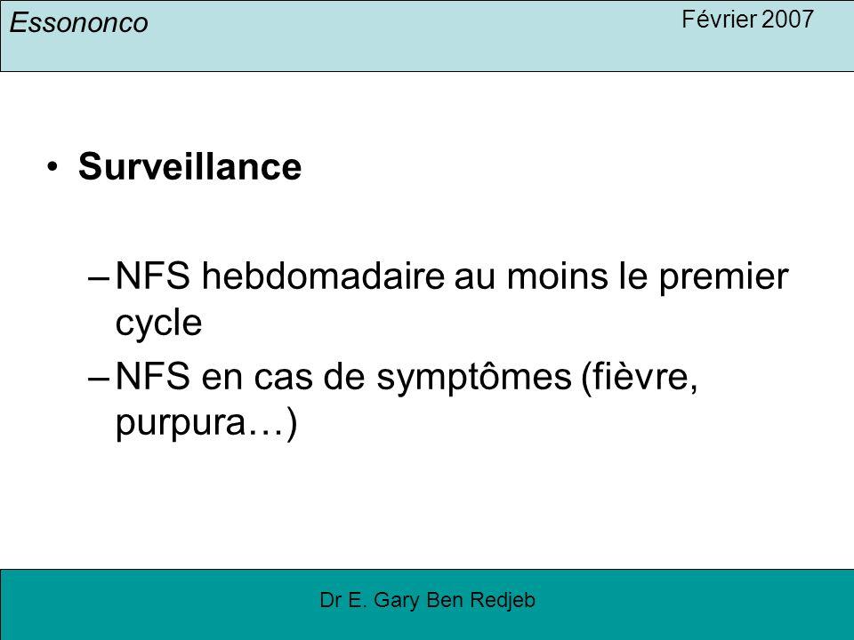 NFS hebdomadaire au moins le premier cycle