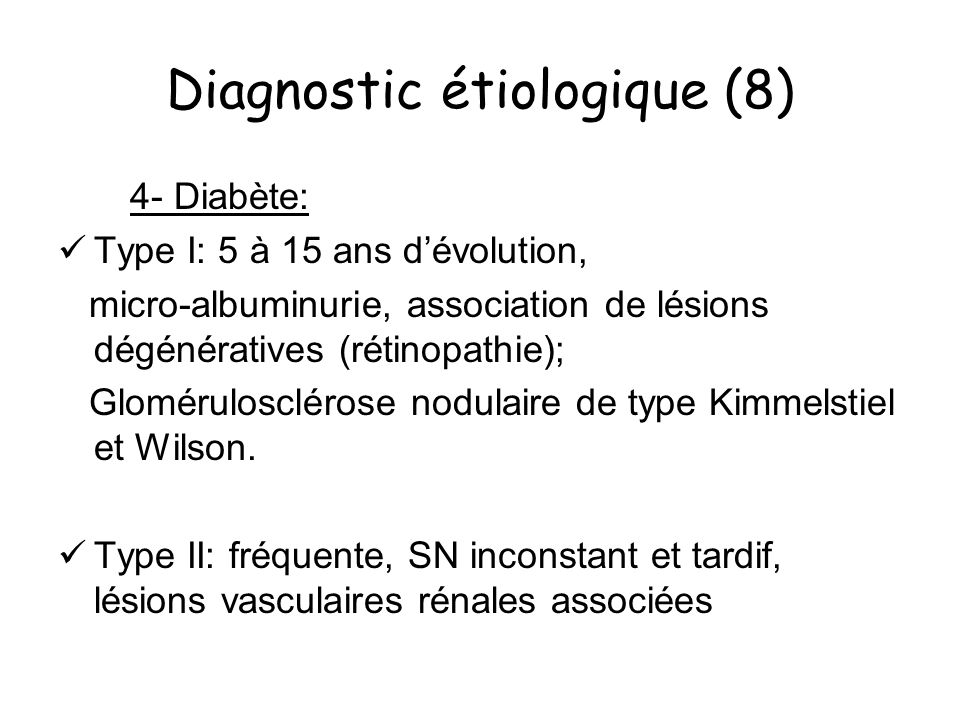 Diagnostic étiologique (8)