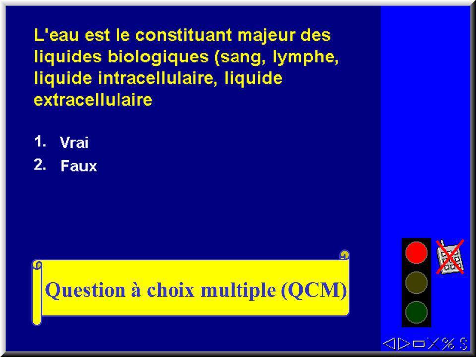 Question à choix multiple (QCM)