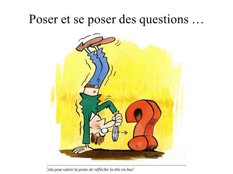Poser et se poser des questions …