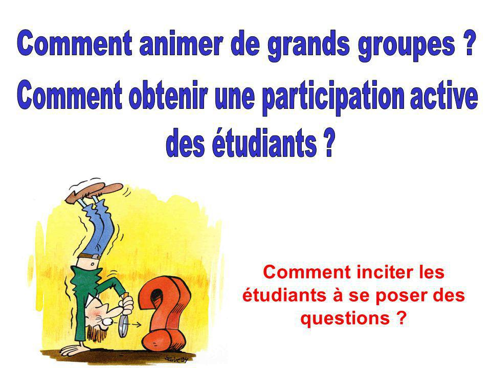 Comment inciter les étudiants à se poser des questions