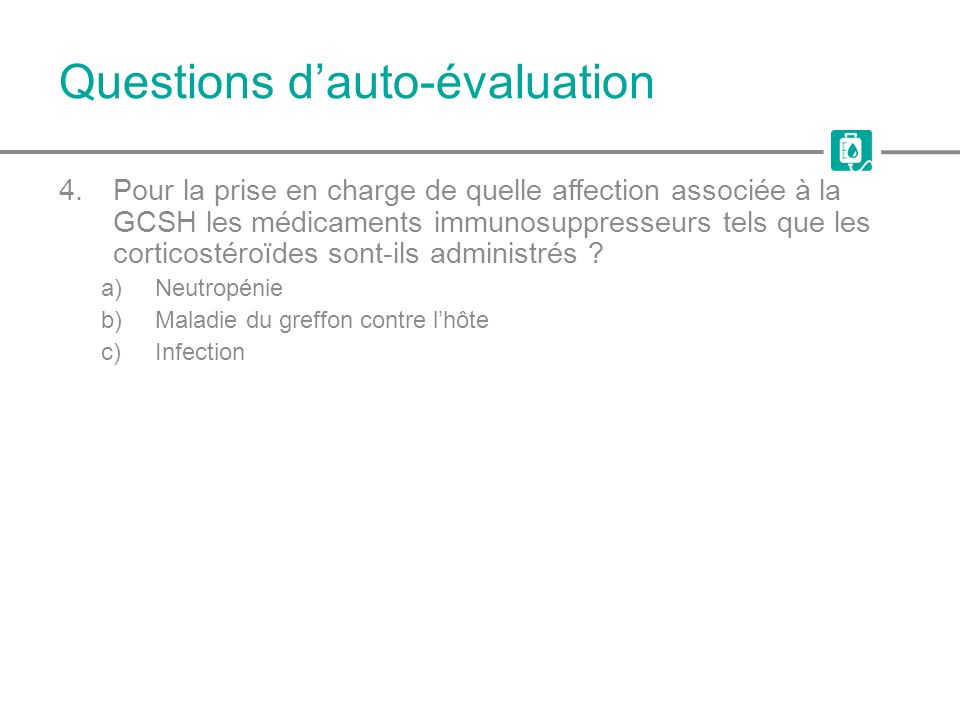 Questions d'auto-évaluation