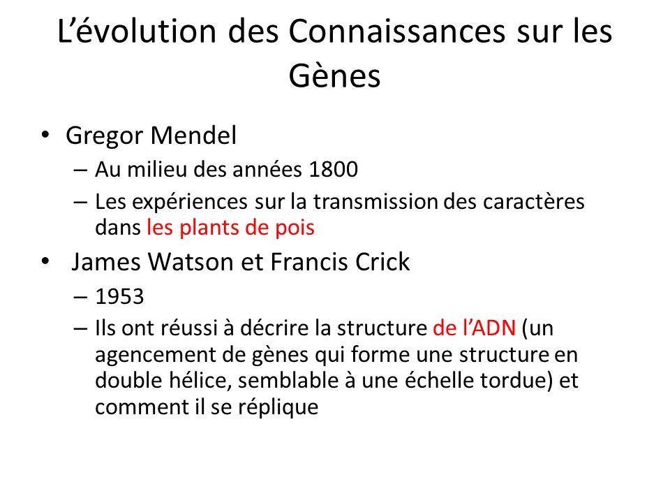L'évolution des Connaissances sur les Gènes