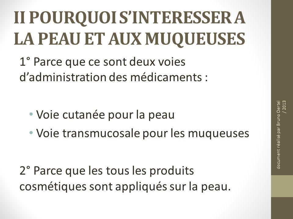 II POURQUOI S'INTERESSER A LA PEAU ET AUX MUQUEUSES