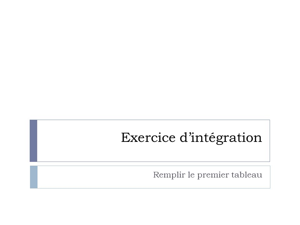 Exercice d'intégration