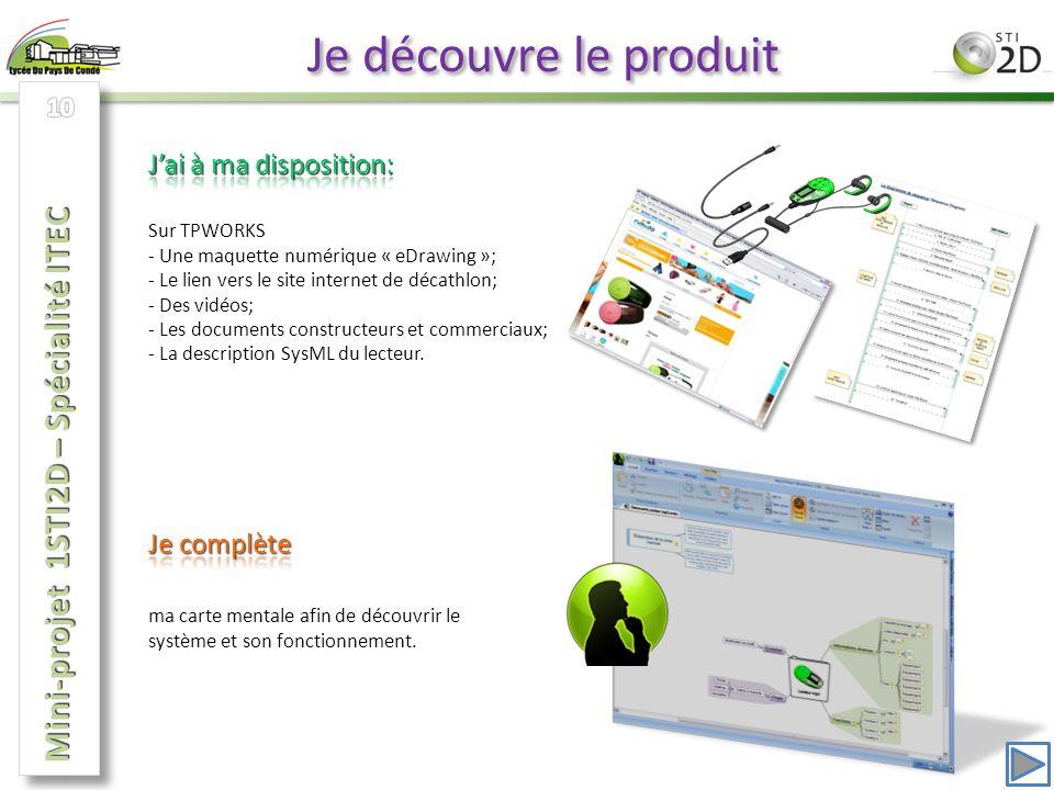 Je découvre le produit Mini-projet 1STI2D – Spécialité ITEC