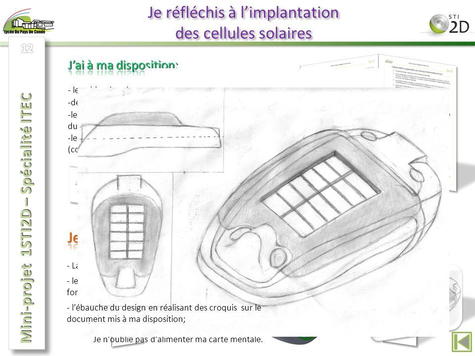 Je réfléchis à l'implantation des cellules solaires