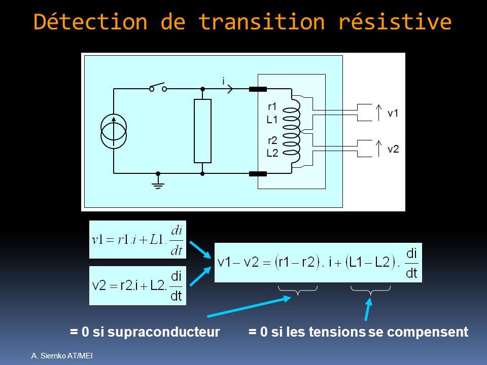 Détection de transition résistive